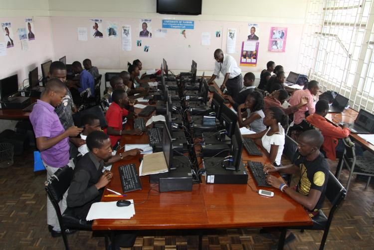 SOJMC Students using computers